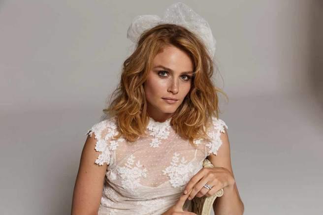 vestido de novia de plumeti