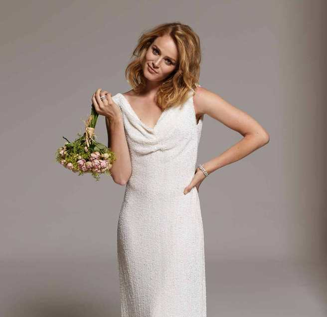 vestidos de novia basaldua de paillete