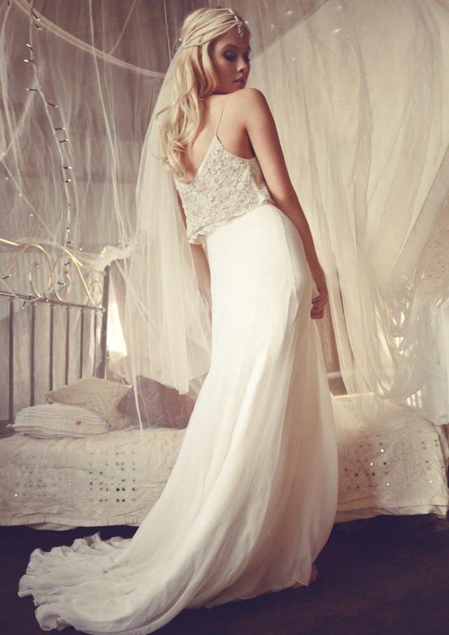vestido de novia hippie-chic