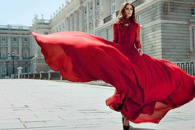vestido invitada boda rojo de gasa
