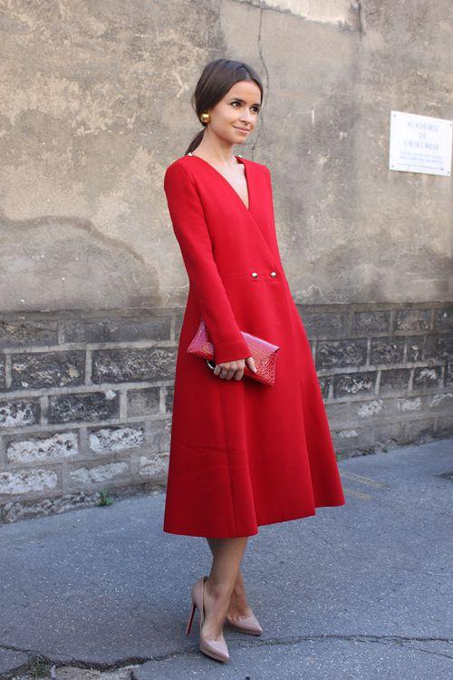 abrigo invitadas invierno rojo