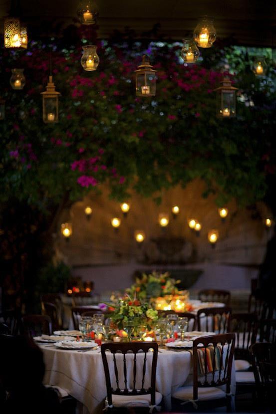 iluminación con farolillos para bodas