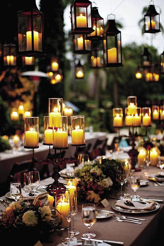 decorar con velas ambientes boda
