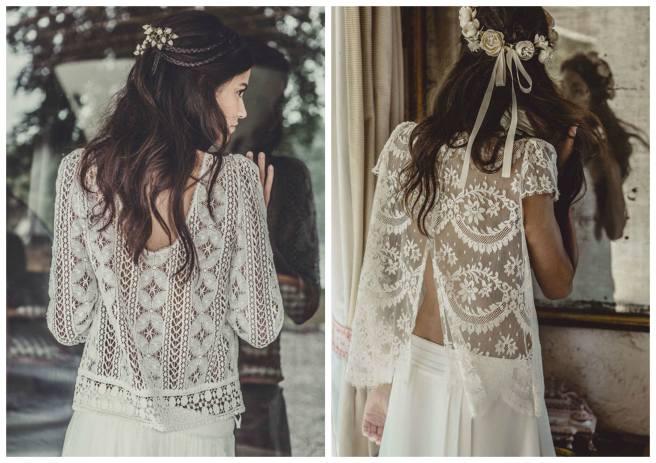 vestidos de novia con espalda impresionante