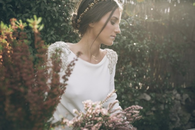 vestidos novia manga larga
