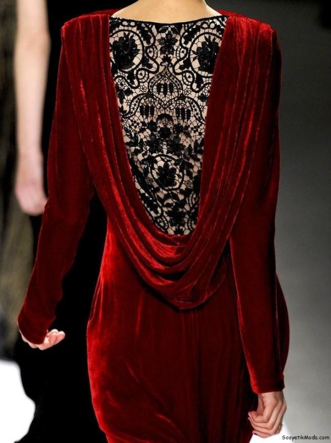 vestido terciopelo y encaje