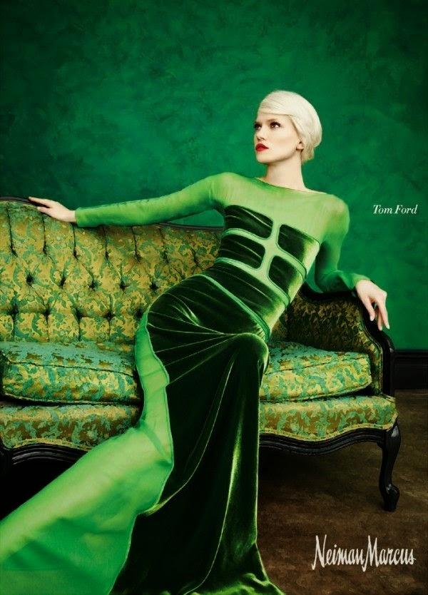 vestido largo terciopelo verde