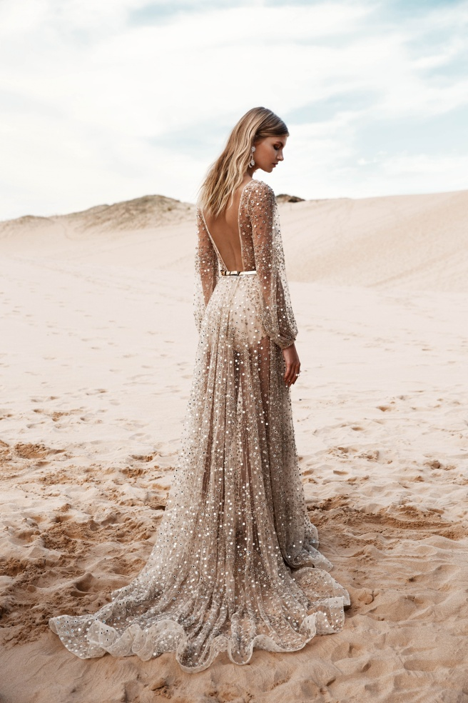 espalda vestido novia transparencia